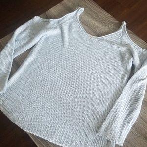 Open shoulder sweater